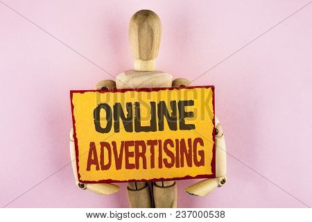Conceptual Hand Writing Showing Online Advertising. Business Photo Text Website Campaigns Ads Electr