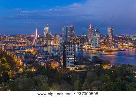 Rotterdam cityscape - Netherlands - architecture background