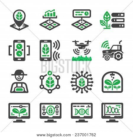 Smart Farm Icon Set Vector And Illustration