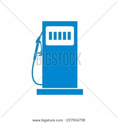 Stylized Icon Of The Gas Station On A White Background