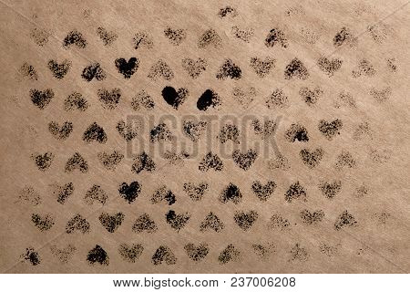 Background For Advertising. The Kraft Paper. Use On The Internet, Social Networks, Website.