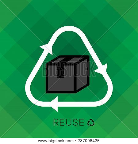 Recycle sign with bottle icon and reduce word is remind people to reduce using plastic bottle for a good environmental, eco friendly system. educe, reuse, recycle set. poster