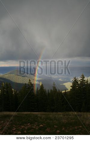 Rainbow in Rockies Foothills