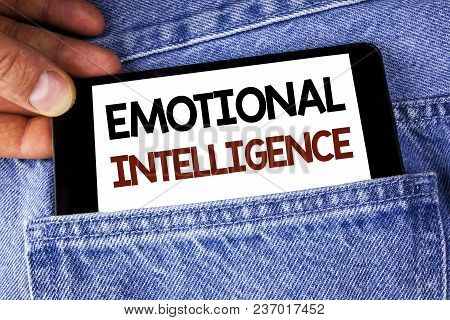 Conceptual Hand Writing Showing Emotional Intelligence. Business Photo Text Capacity To Control And