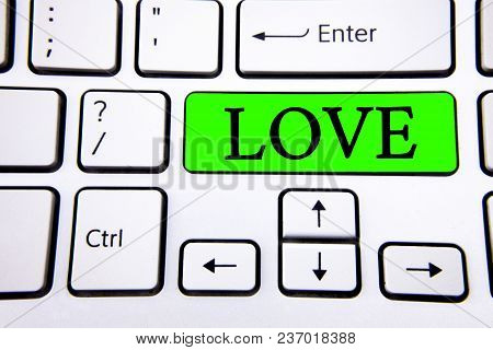 Word Writing Text Love. Business Concept For Intense Feeling Deep Affection Romantic Sexual Attachme