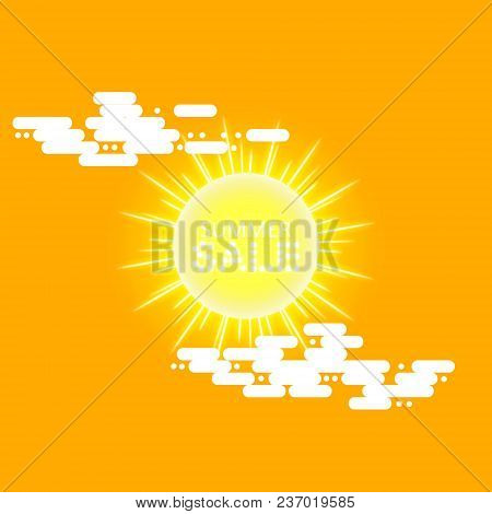 Super Summer Sale Banner With Sun And Cloud On The Yellow Background, . Business Seasonal Shopping C