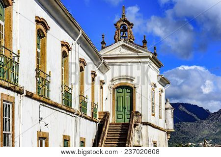 Old Catholic Church Of The 18th Century Located In The Center Of The Famous And Historical City Of O