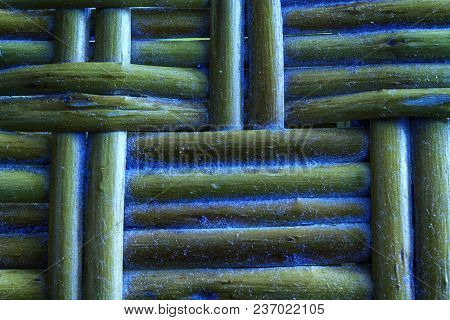Marina Grunge Painted Wooden Wicker Texture Of Basketwork For Background Use.