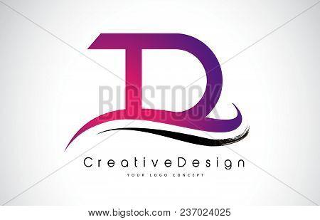 Td T D Letter Logo Design In Black Colors. Creative Modern Letters Vector Icon Logo Illustration.