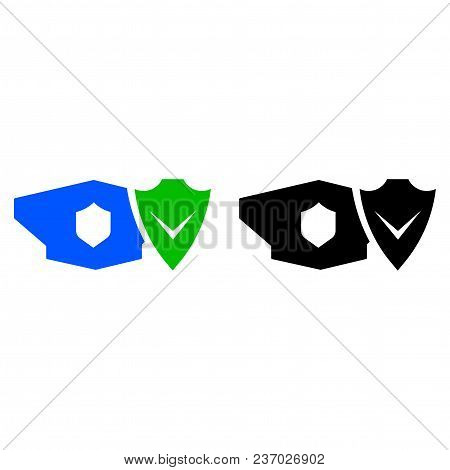 Military Security Icon. Vector Icon. Flat Style