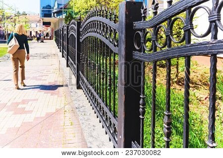 Black Wrought Iron Fence, Black Metal Fence