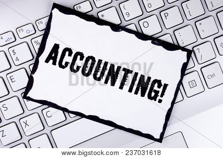 Conceptual Hand Writing Showing Accounting Motivational Call. Business Photo Showcasing Account Inne