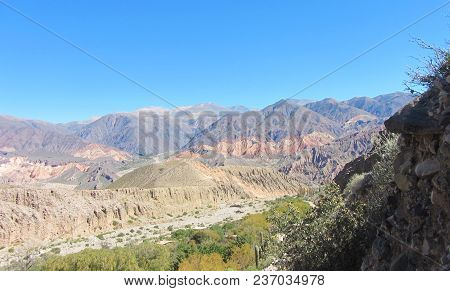 Background Of Mountains, On The Way To The