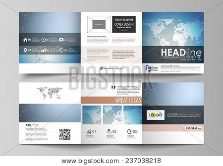 The Abstract Minimalistic Vector Illustration Of The Editable Layout. Two Creative Covers Design Tem