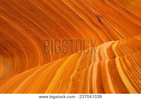 Famous Rock Formation In Pariah Canyon - Arizona Wave. Vermilion Cliffs National Monument In Arizona