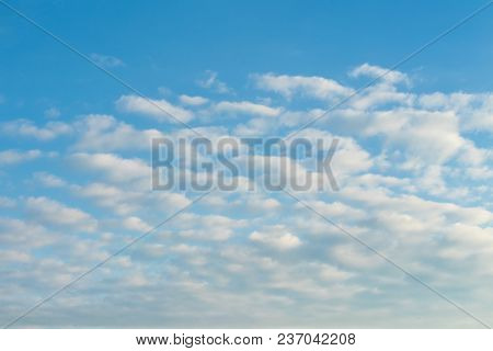Blue Sky With Clouds In The Morning