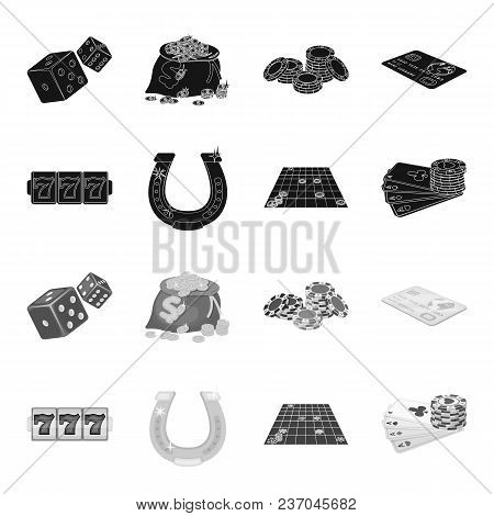 Excitement, Recreation, Hobby And Other  Icon In Black, Monochrome Style., Casino, Entertainment, In
