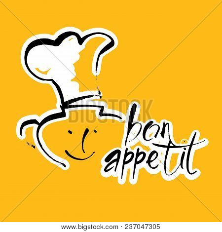 Bon Appetit Graphic. Vector Design Template Logo.