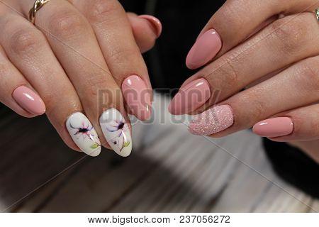Beautiful Pink Manicure