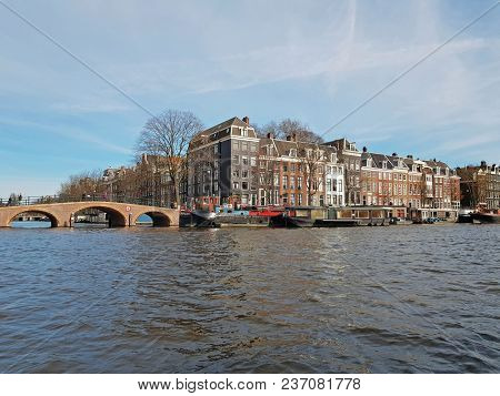 Amsterdam houses in Amsterdam city center in the Netherlands