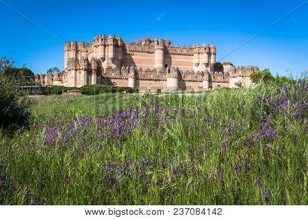 Coca Castle, Segovia (castilla Y Leon), Spain.