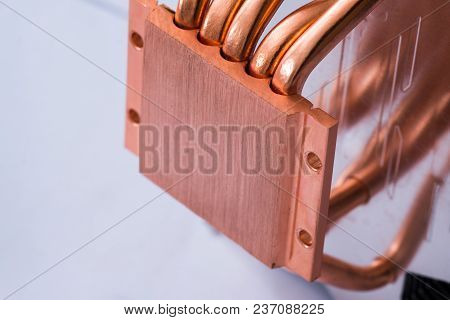 Concept Of Air Cooling Of The Central Processor Of A Computer Aluminum Radiator With Copper Heat Pip