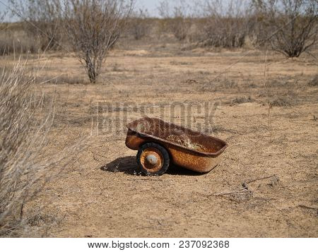 Lonely Little Rusted Wagon