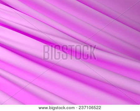 Beautiful Pink Satin Fabric For Drapery Abstract Background