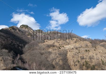 Mountain Slope In The North Caucasus Mountains