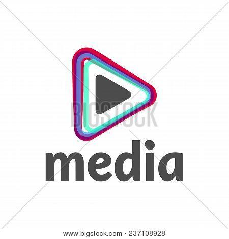 Vector Play Icon. Video Application Icon Design Template. Music Player. Play Button. Media Logo