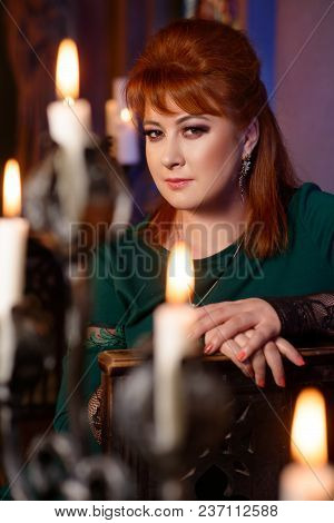 Beautiful Redhead Girl Dresses In Dark Gothic Style