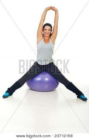 Healthy Woman Doing Fitness Exercises