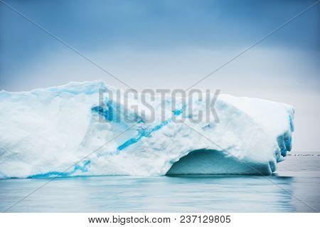 Big Iceberg In Atlantic Ocean. Disco Bay, Western Greenland.