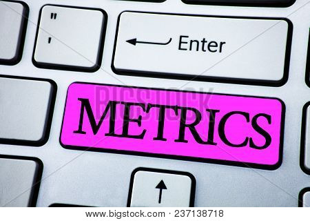 Text Sign Showing Metrics. Conceptual Photo Method Of Measuring Something Study Poetic Meters Set Of