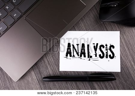 Writing Note Showing  Analysis. Business Photo Showcasing Strategic Analytic Plans For New Website G