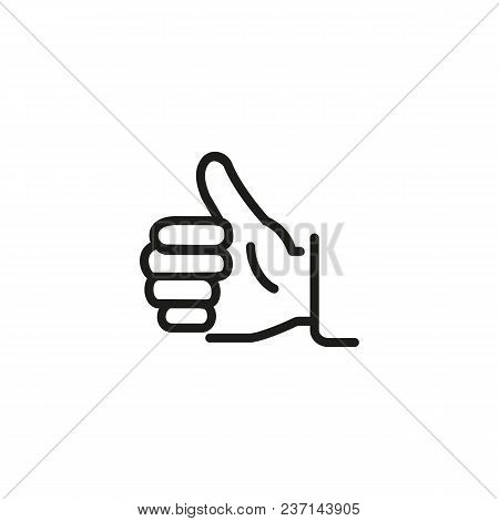 Thumb Up Line Icon. Like, Approval, Hand. Gesture Concept. Can Be Used For Topics Like Social Networ