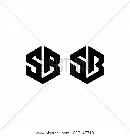 Hexagon - Illustration Of The Concept Of Hexagon Sb Vector Logo. Hexagon Geometric Polygonal Logo. T
