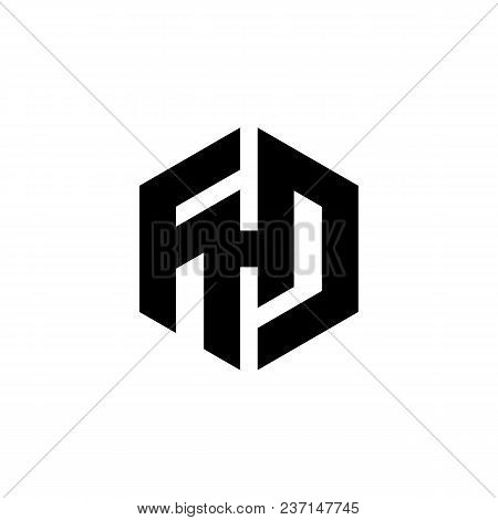 Hexagon - Illustration Of The Concept Of Hexagon Fhd Vector Logo. Hexagon Geometric Polygonal Logo.