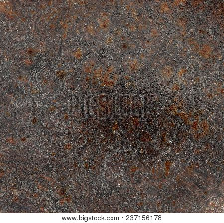 Wet Old Metal Sheet With Rust Spots