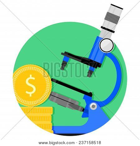 Scientific Funding Icon. Vector Investment Business, Funding For Study Illustration