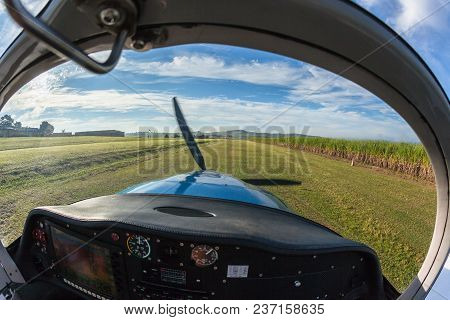 Prop Plane Take Off Inside Out Grass