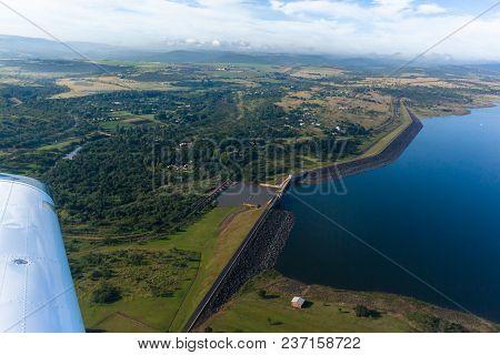Flying Albert Falls Dam Farmlands