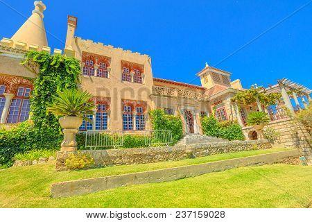 Cascais Architecture. Casa De Santa Maria Or House Of Saint Mary Is A Grand 19th Century Stately Hom