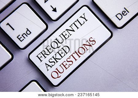 Word Writing Text Frequently Asked Questions. Business Concept For Most Common Inquiries Information