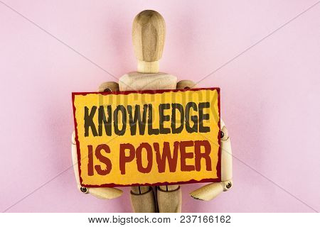 Conceptual Hand Writing Showing Knowledge Is Power. Business Photo Text Learning Will Give You Advan