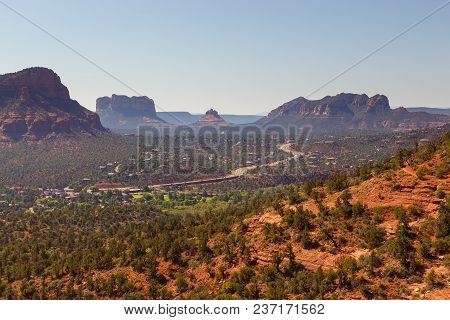 The Natural Beauty Of The Red Rock Canyons And Sandstone Of Sedona In Arizona. In The Valley Of The