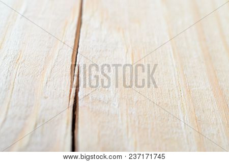Bright Board With A Large Longitudinal Crack