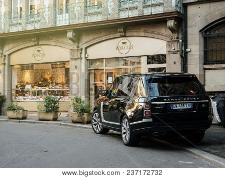 Strasbourg, France - 13 Mar, 2018: New Range Rover Land Rover Vogue, The Luxury British Suv Parked I