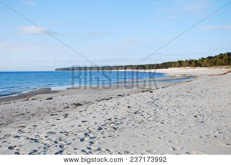 Beautiful Sand Beach At Byrum On The Swedish Island Oland