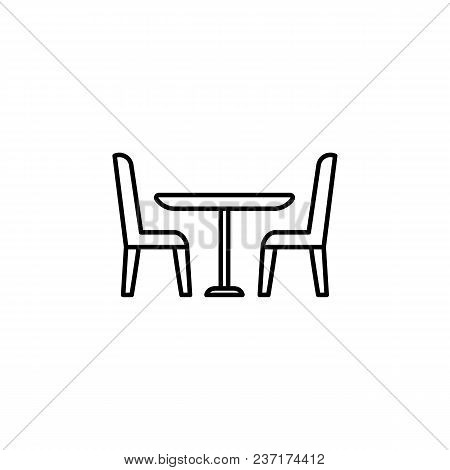 Table And Chairs Icon. Element Of Furniture For Mobile Concept And Web Apps. Thin Line  Icon For Web